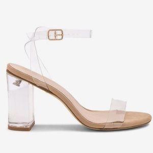 Raye Clear Block Heel Sandals
